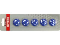 """Набор магнитов """"Смайлики"""" 30 мм, 5 шт., синие МЦС30С"""