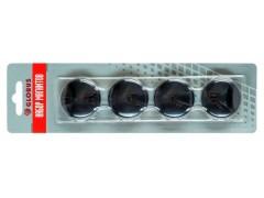 Набор магнитов черных 40 мм, 4 шт. МЧ40