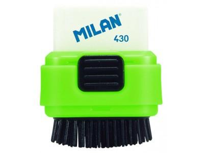 """Ластик со щеточкой Milan """"Compact"""", прямоугольный, синтетический каучук, 49*37*22мм, арт. 4901116"""