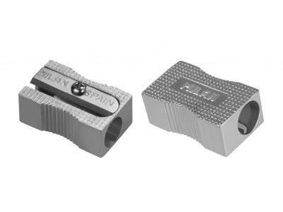 Точилка металлическая прямоугольная Milan, 1 отверстие, арт. 80034