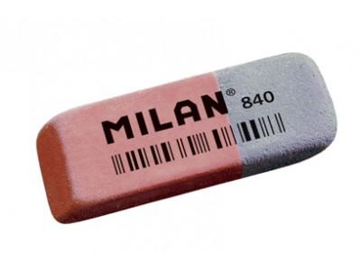 """Ластик Milan """"840"""", скошенный, комбинированный, натуральный каучук, 52*19*8мм, арт. CCM840RA"""