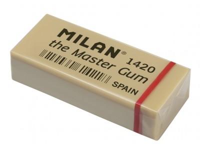 """Ластик Milan """"Master Gum 1420"""", прямоугольный, синтетический каучук, 55*23*13мм, арт. CMM1420-05"""