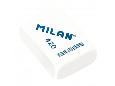 """Ластик Milan """"420"""", прямоугольный, синтетический каучук, 41*28*13мм, арт. CMM420"""