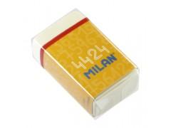 """Ластик Milan """"4424"""", прямоугольный, синтетический каучук, картонный держатель, 39*23*13мм, CMM4424"""
