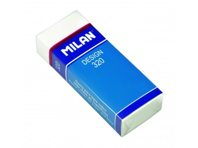 """Ластик Milan """"Design 320"""", прямоугольный, ПВХ, картонный держатель, 61*23*12мм, CPM320"""