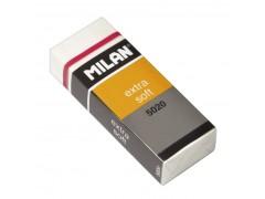 """Ластик  для художественных работ Milan """"Extra Soft 5020"""", прямоугольный, пластик, картонный держатель, 61*23*12мм, CPM5020"""
