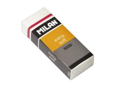 """Ластик Milan """"Extra Soft 5020"""", прямоугольный, пластик, картонный держатель, 61*23*12мм, CPM5020"""