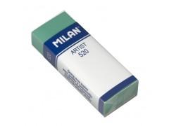 """Ластик Milan """"Artist 520"""", прямоугольный, пластик, картонный держатель, 61*23*12мм, арт. CPM520"""