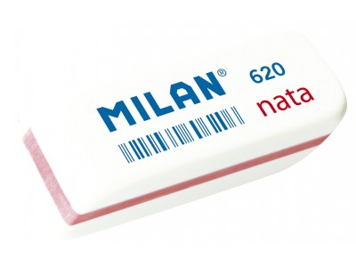 """Ластик Milan """"Nata 620"""", cкошенный, пластик, 56*19*12мм, арт. CPM620"""