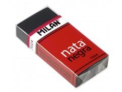 """Ластик Milan """"Nata Negra 7024"""", прямоугольный, пластик, карт.держатель,черный, 50*23*10мм, CPM7024CF"""