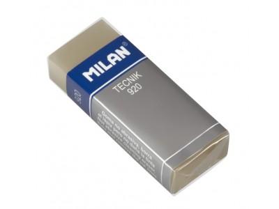 """Ластик Milan """"Tecnik 920"""", прямоугольный, пластик, картонный держатель, 61*23*12мм, CPM920"""
