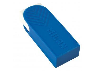 """Ластик Milan """"A1"""", прямоугольный, пластик, пластиковый держатель, 61*23*12мм, арт. CPMA1"""