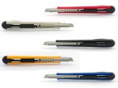 Нож канцелярский малый, 9мм, KANEX MP-9, метал.направляющие, лезвие из высокоуглеродистой стали