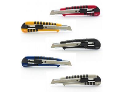 Нож канцелярский большой, 18 мм, KANEX MRG-18, метал.направляющие, лезвие из высокоуглеродистой стали