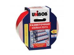 Клейкая лента разметочная 50мм*50м (красно-белая) UNIBOB