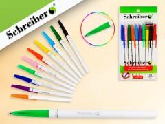 Набор цветных шариковых ручек с цветными чернилами, 10 цветов, 0,7 mm, арт. S 347-10