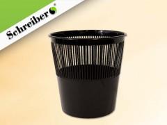 Корзина для бумаг пластиковая, цвет ЧЕРНЫЙ, объем 12 литров, арт. S 99302