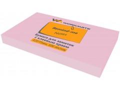 Бумага для заметок с клеевым краем, 125х75 мм, 100л., цвет розовый