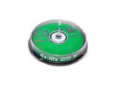 Диск CD-RW Data Standart 4X-12X 700Mb Cake box 10