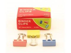 Зажимы для бумаг в наборе, цветные, 19 мм, 12 шт., Binder clips
